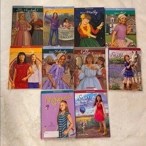 10 American girl books Kit Molly Ivy Julie Saige
